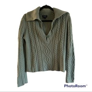 American Eagle outfitters Sage green cableknit sweater